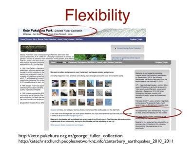 Slide 'Flexibility'.